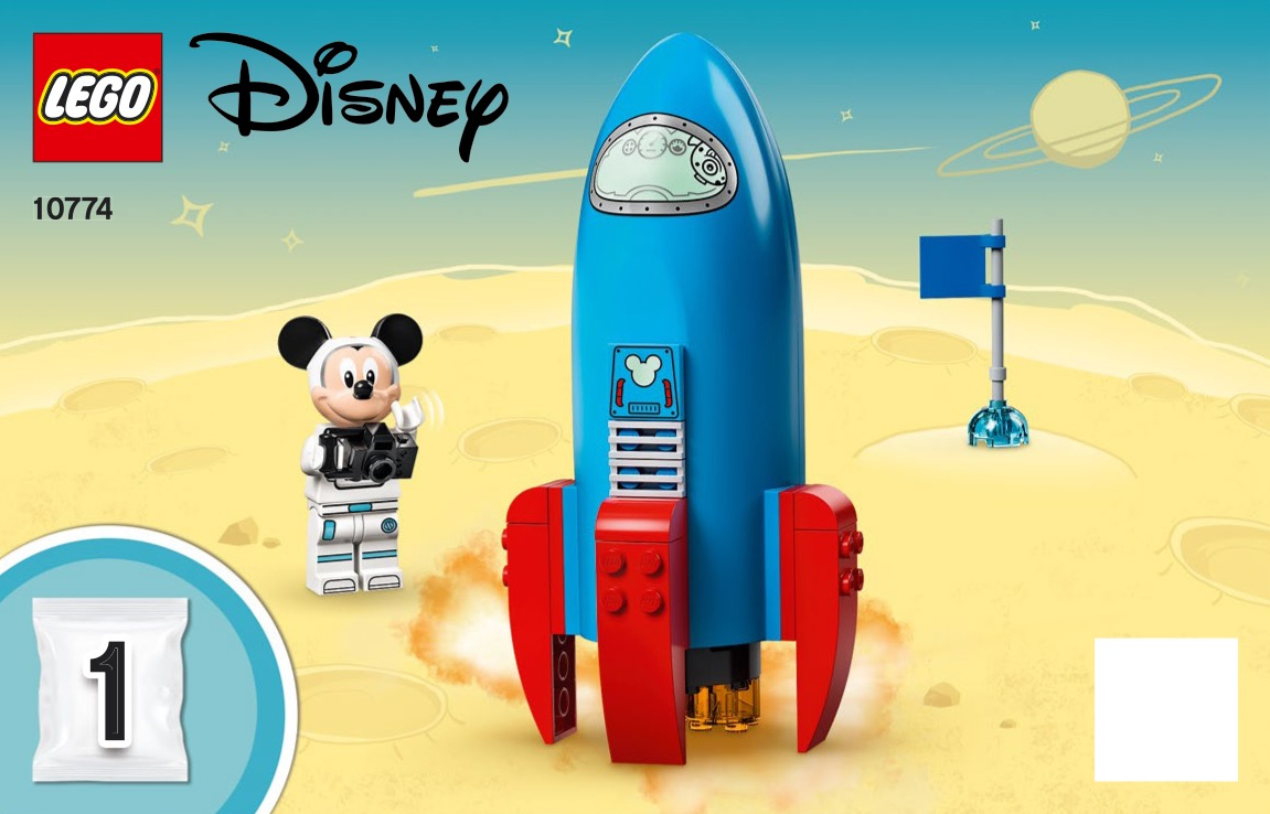 Mickey Mouse And Minnie Mouses Space Rocket