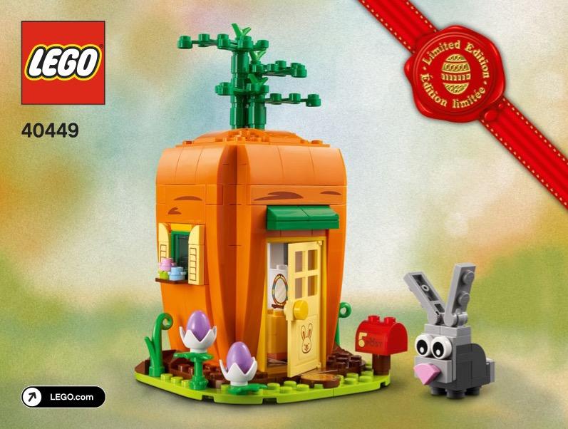 Easter Bunnys Carrot House